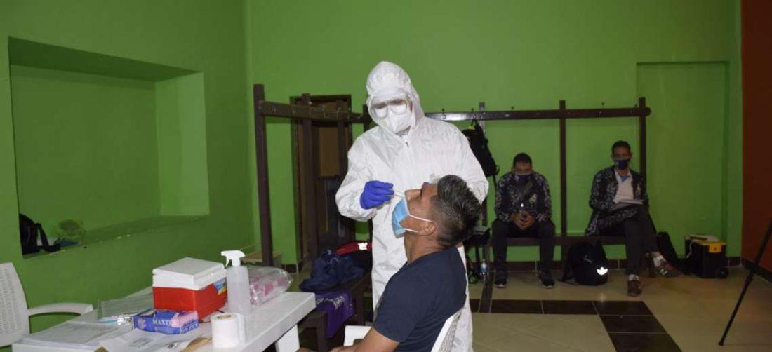 Las pruebas de PCR a los jugadores se hicieron el viernes. Foto: Club R. Potosí