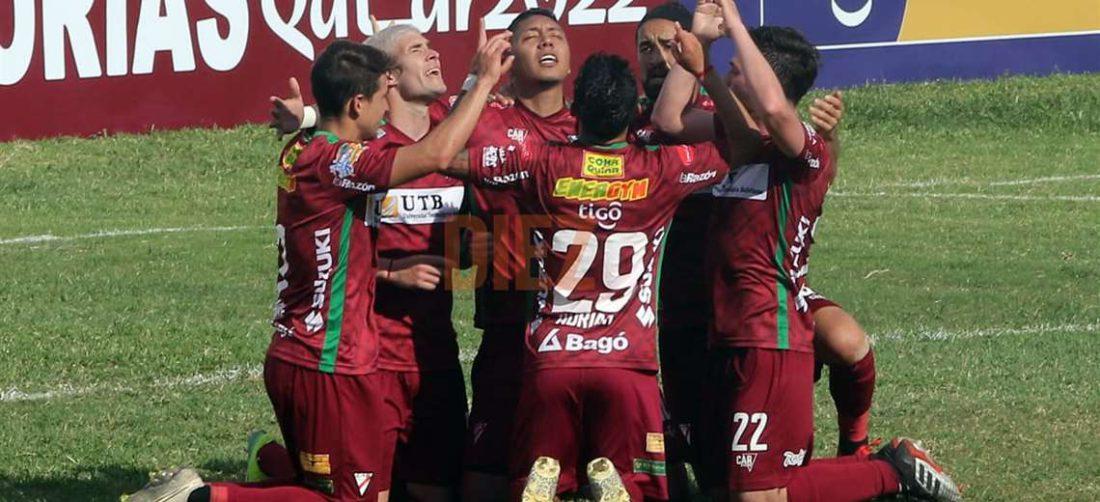 Galindo celebrando su gol. Foto: APG