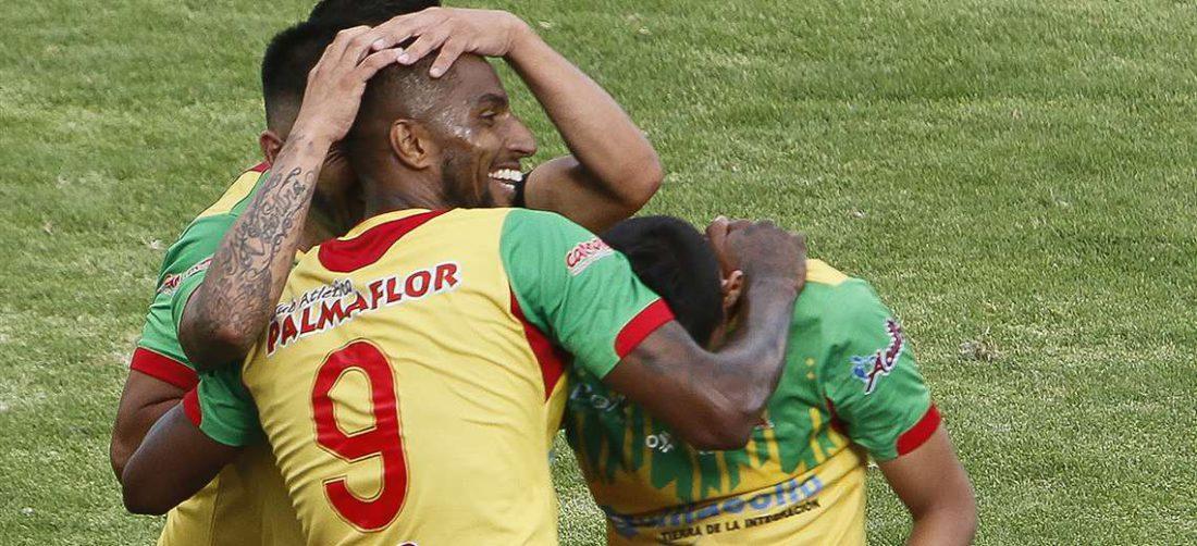 Jefferson Tavares celebrando su gol. Foto: APG Noticias