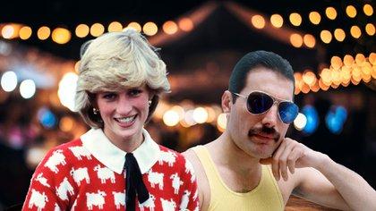 Diana y Freddy atesoraron una buena amistad, ella se divertía con él y amigos como el presentador Keny Everett, entre otros famosos con los que pasó veladas inolvidables (Shutterstock)