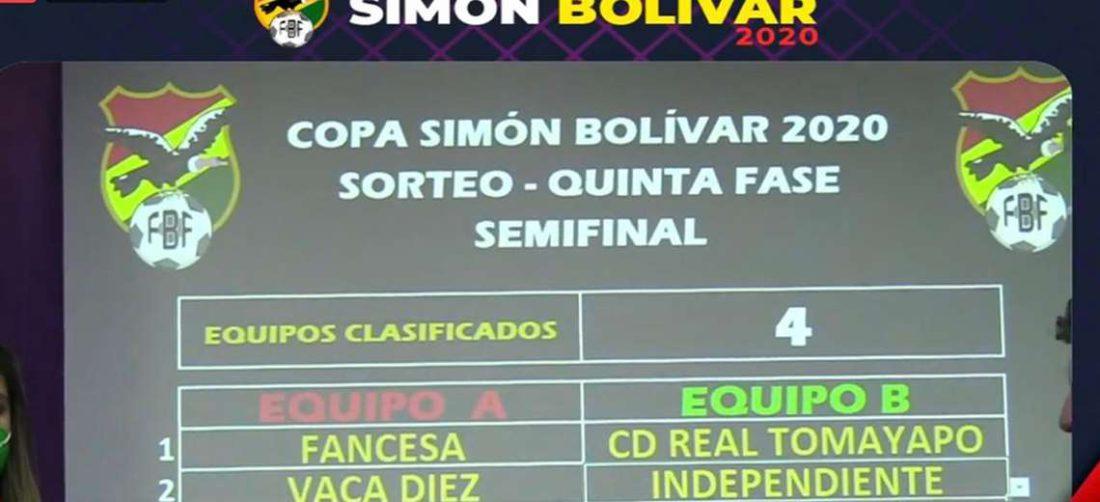 Así quedaron los emparejamientos de las semifinales. Foto: Captura video