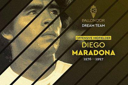 Diego Maradona recibió el reconocimiento a pocos días de su muerte