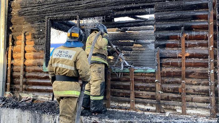 Russland Brand in Pflegeheim