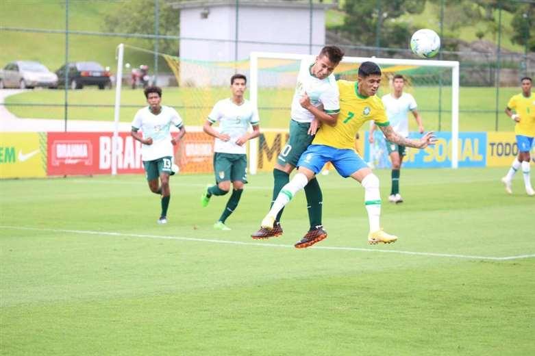 La sub-20 buscará este martes su primer triunfo en el cuadrangular de Brasil   EL DEBER