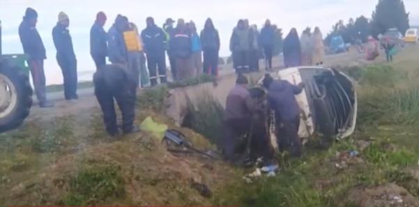 Accidente camino a Achacachi