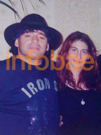 Cibilla y Maradona cuando estaba en pareja