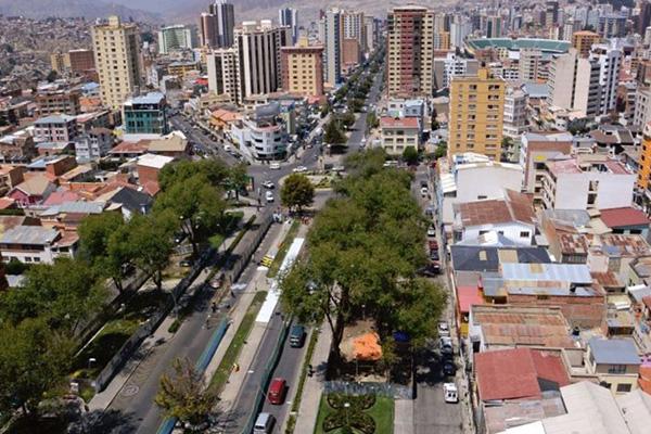 Barrio de Miraflores en La Paz Foto: Página Siete