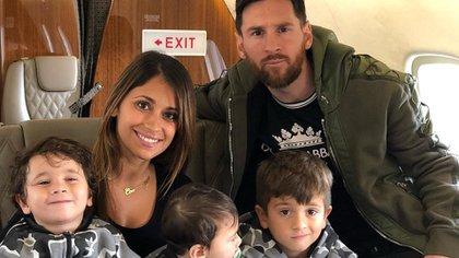 Messi y su familia viajaron a Rosario para pasar la Navidad