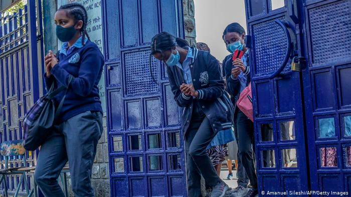 Estudiantes en Etiopía.