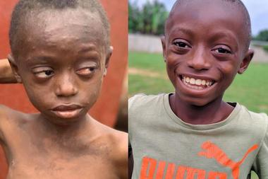 A Saviour lo rescataron hace un año y su transformación es asombrosa