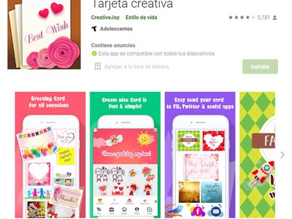 Tarjeta creativa cuenta con varios diseños para elegir