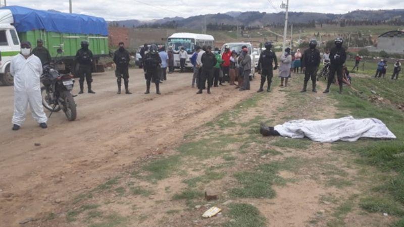 Un hombre de 67 años muere tras ser agredido en un bloqueo en Sucre