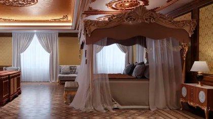 Vista de una de las habitaciones del palacio de Vladimir Putin