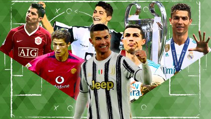 Cristiano Ronaldo atravesó un largo camino durante su carrera hasta convertirse en uno de los máximos goleadores de la historia (Foto: Emanuel Gómez / infobae)