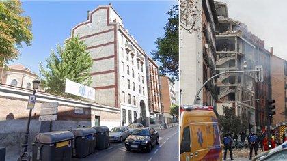 El antes y el después del edificio
