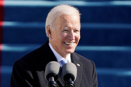 El presidente de los Estados Unidos Joe Biden durante la toma de posesión, en EEUU, el 20 de enero de 2021 (Patrick Semansky/Pool vía REUTERS)