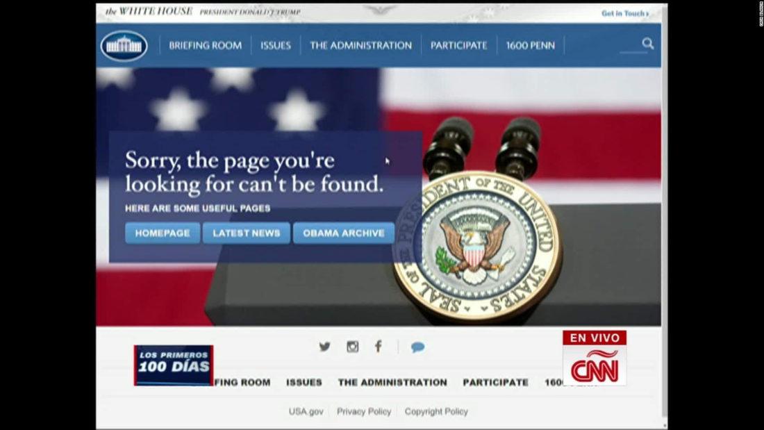 La Casa Blanca 'desaparece' su página web en español   Video   CNN