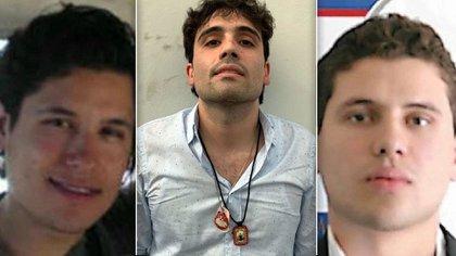 """Los hijos y herederos del imperio criminal de Joaquín el """"Chapo"""" Guzmán. Alfredo, Ovidio e Iván Archivaldo Guzmán (Foto: Especial)"""