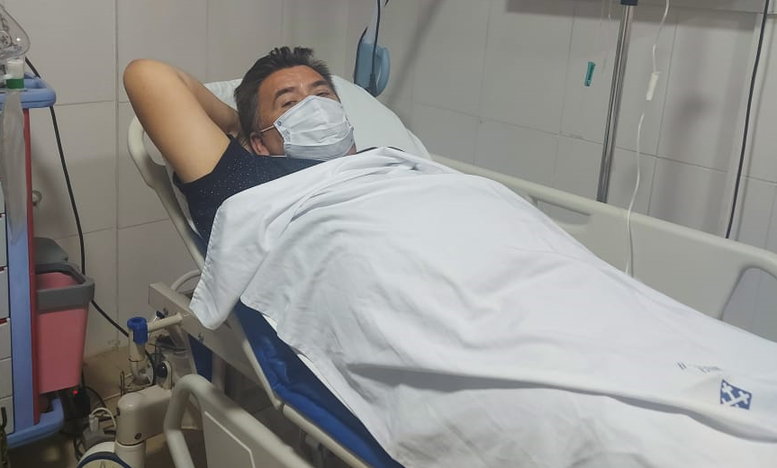 Roberto Méndez en la emergencia de la Clínica Niño Jesús 2