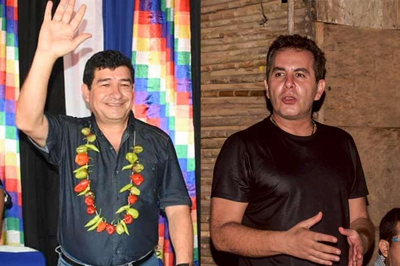 Miguel Becerra del MAS (izq.) y Alejandro Unzueta del MTS