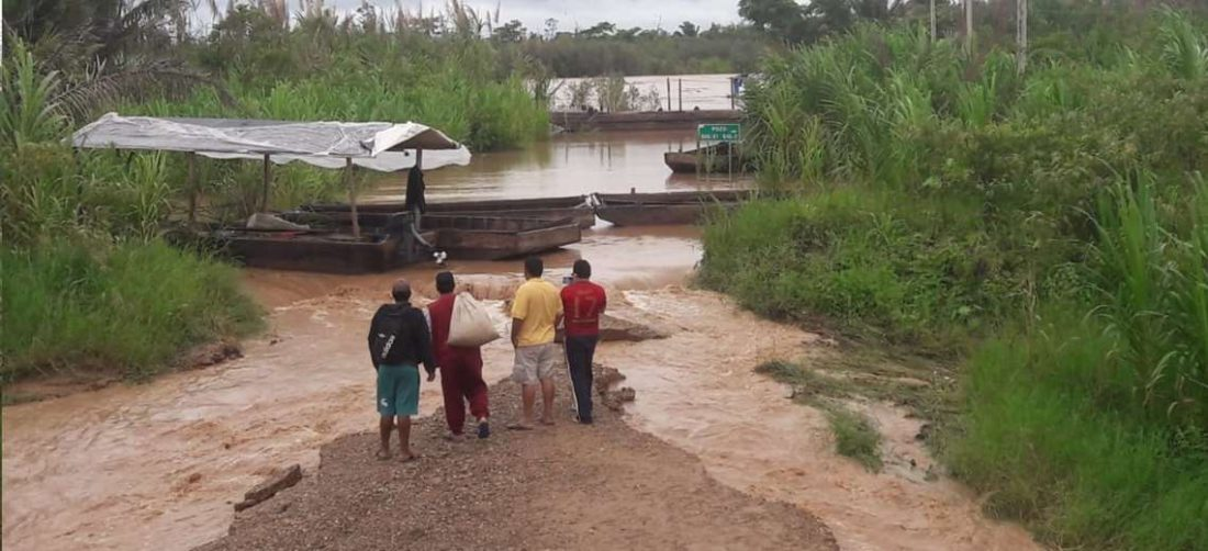 La afectación se dio en el Norte Integrado y la provincia Ichilo. Fotos: Redes sociales