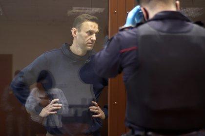 El opositor ruso detenido, Alexei Navalny. Press Service of Babushkinsky District Court of Moscow/Handout via REUTERS