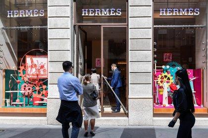 Una tienda de Hermes