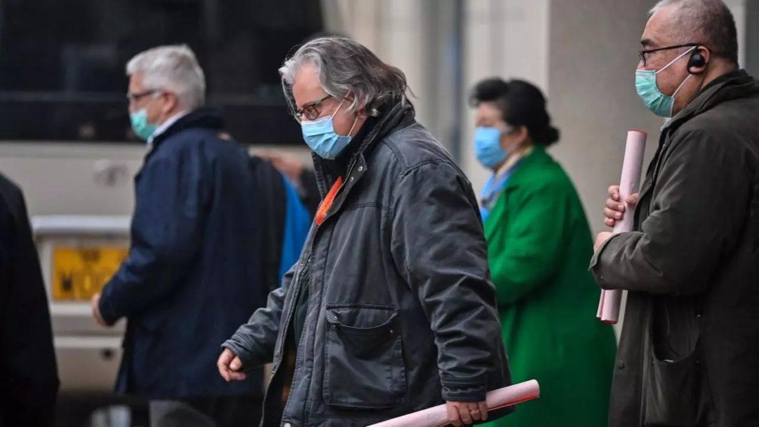 Miembros del equipo de la Organización Mundial de la Salud (OMS) que investiga los orígenes del coronavirus en Wuhan (China), el 4 de febrero de 2021