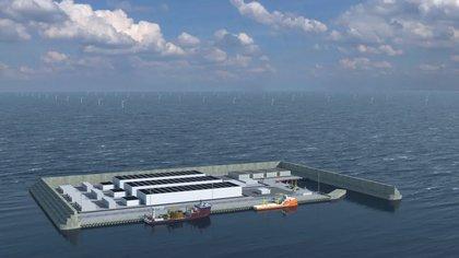 Como parte de un plan de transición a nuevas energías limpias, los daneses construirán una isla artificial del tamaño de casi 20 estadios de fútbol a unos 80 kilómetros al oeste de la costa. (Danish Energy Agency)