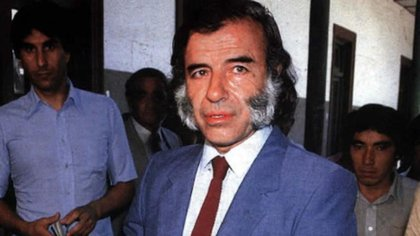 Carlos Menem cuando era gobernador de La Rioja