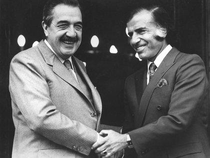 Junto a Raúl Alfonsín
