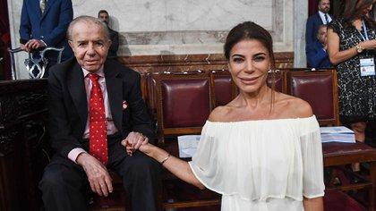 La encargada de definir el día y el horario del velatorio de Carlos Menem será su hija Zulemita (Comunicación Senado Argentina)
