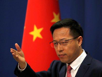 Zhao Lijian, vocero del Ministerio de Relaciones Exteriores de China (REUTERS/Carlos Garcia Rawlins)