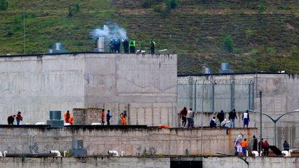 Vista de la cárcel del Turi este martes en la ciudad de Cuenca, Ecuador (EFE/Robert Puglla)