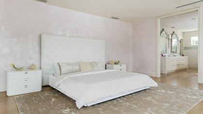 El dormitorio, uno de los ambientes que más se destacan de la mansión de Shakira (The Grosby Group)