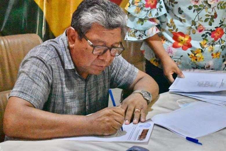 Alcalde de Concepción, David Mollinedo