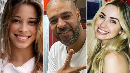"""Adriano estaría en un """"triángulo amoroso"""" con Micaela Mesquita y Victoria Moreira, quienes fueron sus novias en el pasado"""