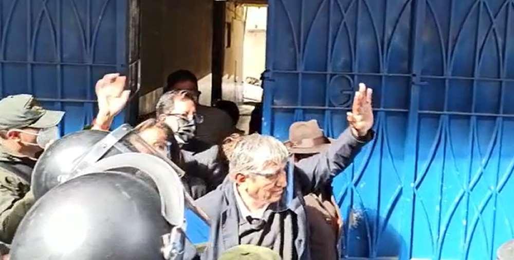 Arias se presentó a declarar ante el Ministerio Público