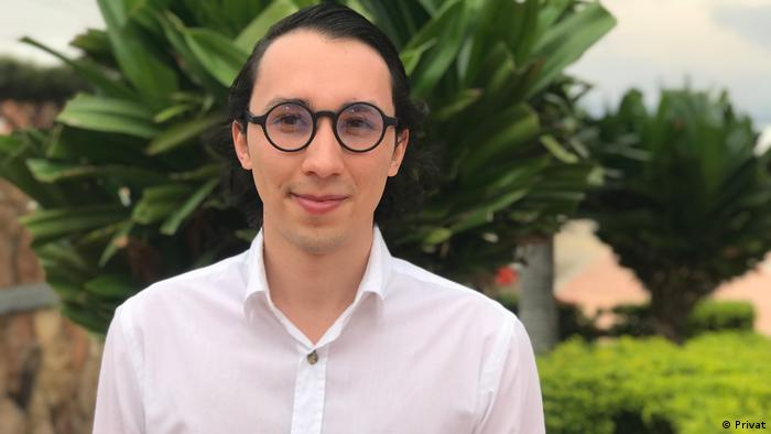 El joven venezolano Rafael Calles Moreno
