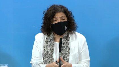 Carla Vizzotti, la ministra de Salud de Argentina, reconoció que están creciendo los casos diarios de Covid y que se analizan medidas