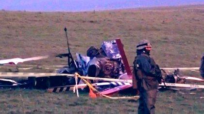 La imagen del helicóptero que trasladaba vacunas de Pfizer (@Mario_Moray)