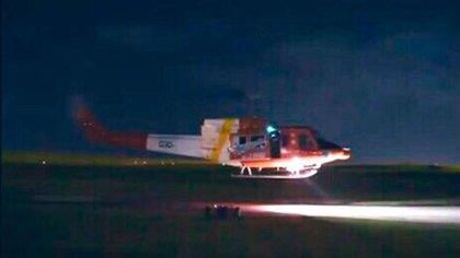 El helicóptero llevaba un cargamento de vacunas a Rocha (@Mario_Moray)