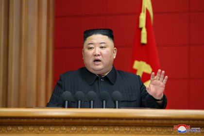 El dictador norcoreano Kim Jong-un. Foto: KCNA via REUTERS