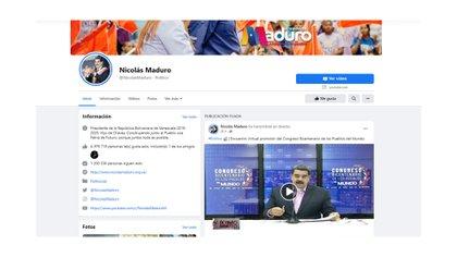 El perfil de Nicolás Maduro en Facebook