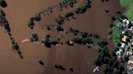 VIDEO: Imágenes satelitales revelan el impresionante alcance de las inundaciones en Australia