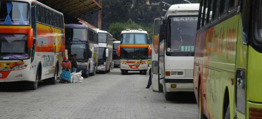 Terminal de buses en La Paz - Foto: internet
