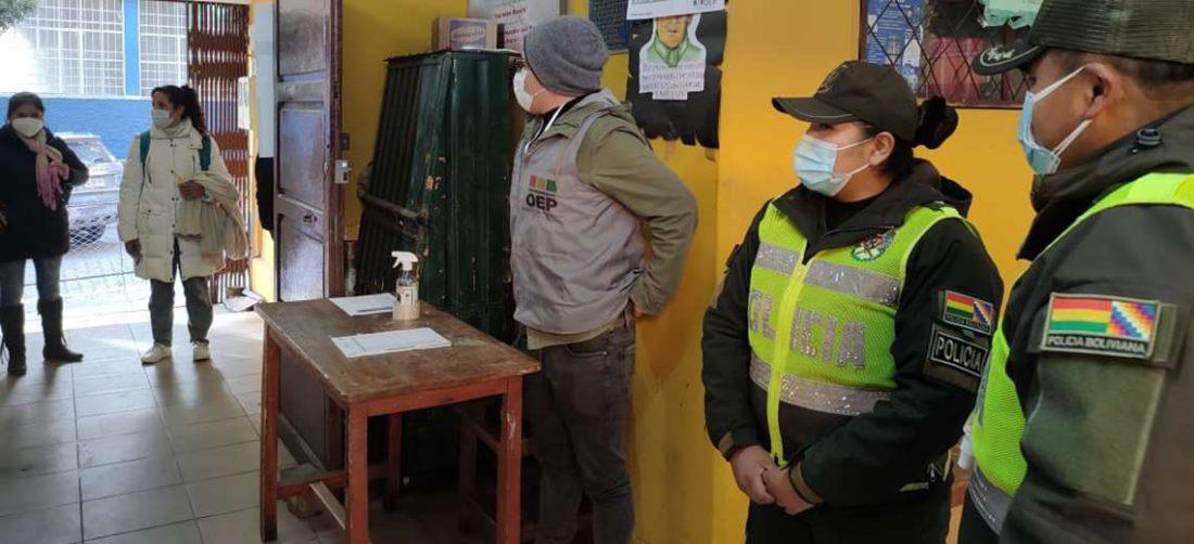 La Policía está a cargo de la custodia del material electoral hasta los TED