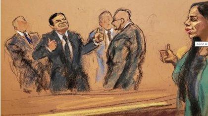 Joaquín El Chapo Guzmán fue condenado a cadena perpetua más 30 años extra en Estados Unidos (Foto: Archivo/Reuters)