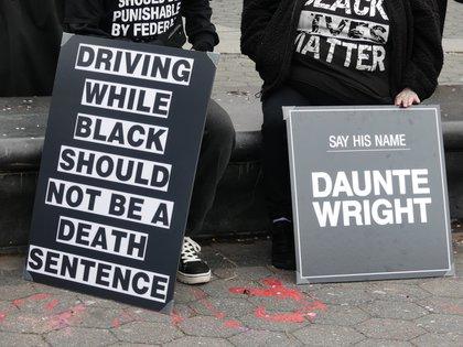 Protestas por la muerte de Daunte Wright cerca de Mineápolis, en Minesota (Europa Press)