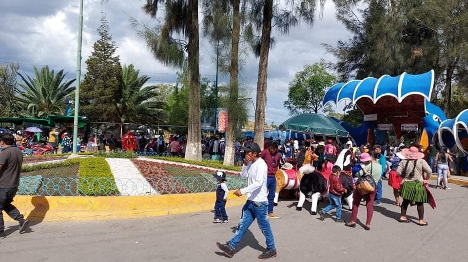 Aglomeración registrada en parques con motivo del Día del Niño. DIEGO VIAMONT